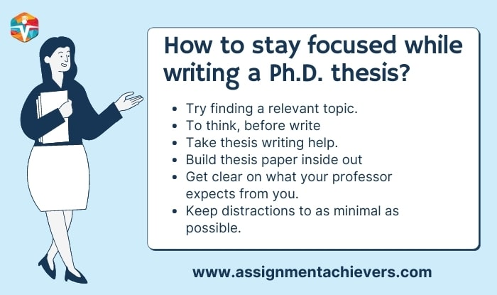 How to stay focused while writing a Ph.D. thesis?